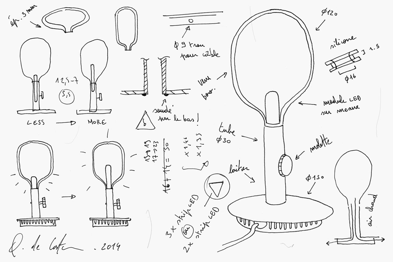 Argand lamp sketches
