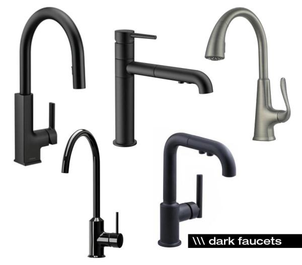 dark-kitchen-faucets