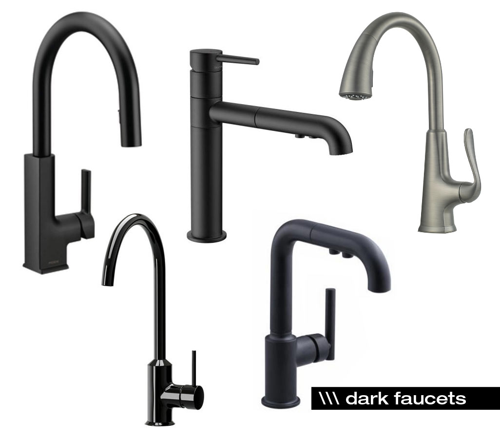 dark-kitchen-faucets