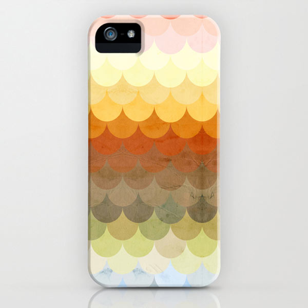 Half Circles Waves Color iPhone case by Danny Ivan on Society6