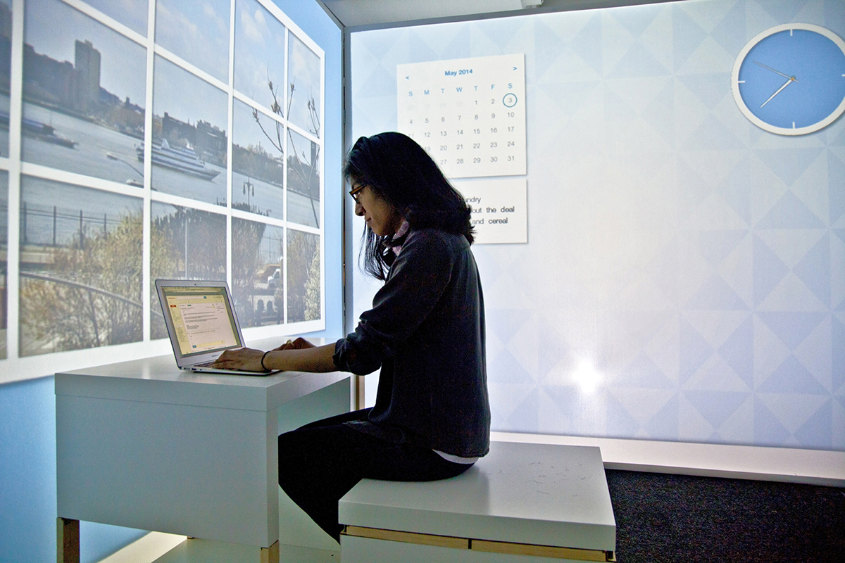 Tiny 100-Square-Foot Apartment Virtually Transforms Throughout Day