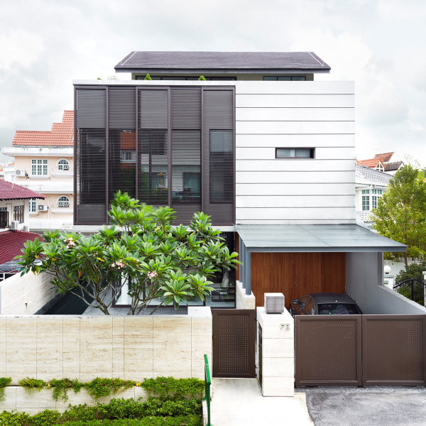 screen eco house above modern architecture