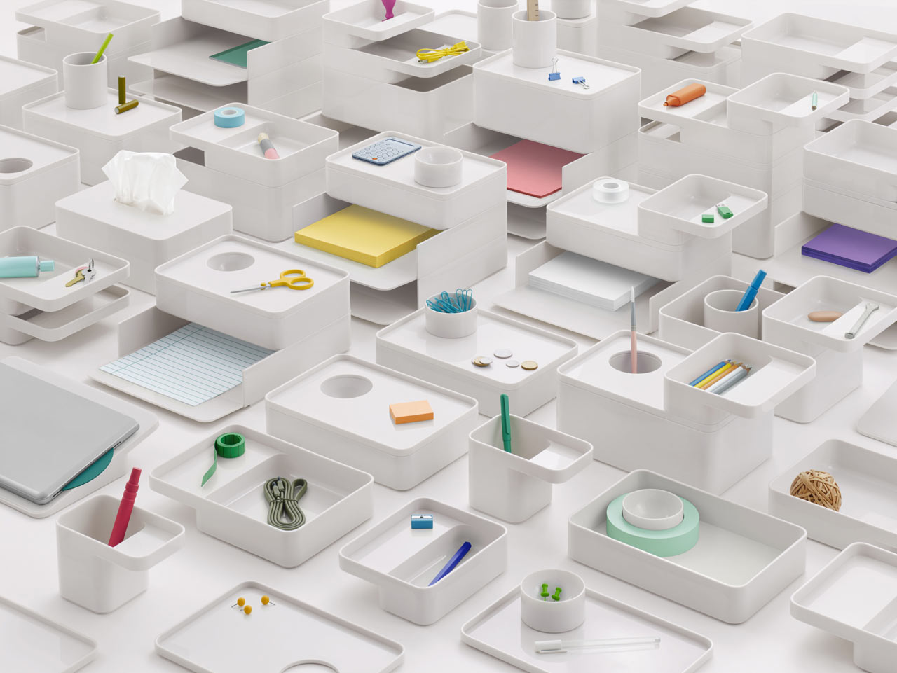 Formwork Desk Accessories by Industrial Facility for Herman Miller
