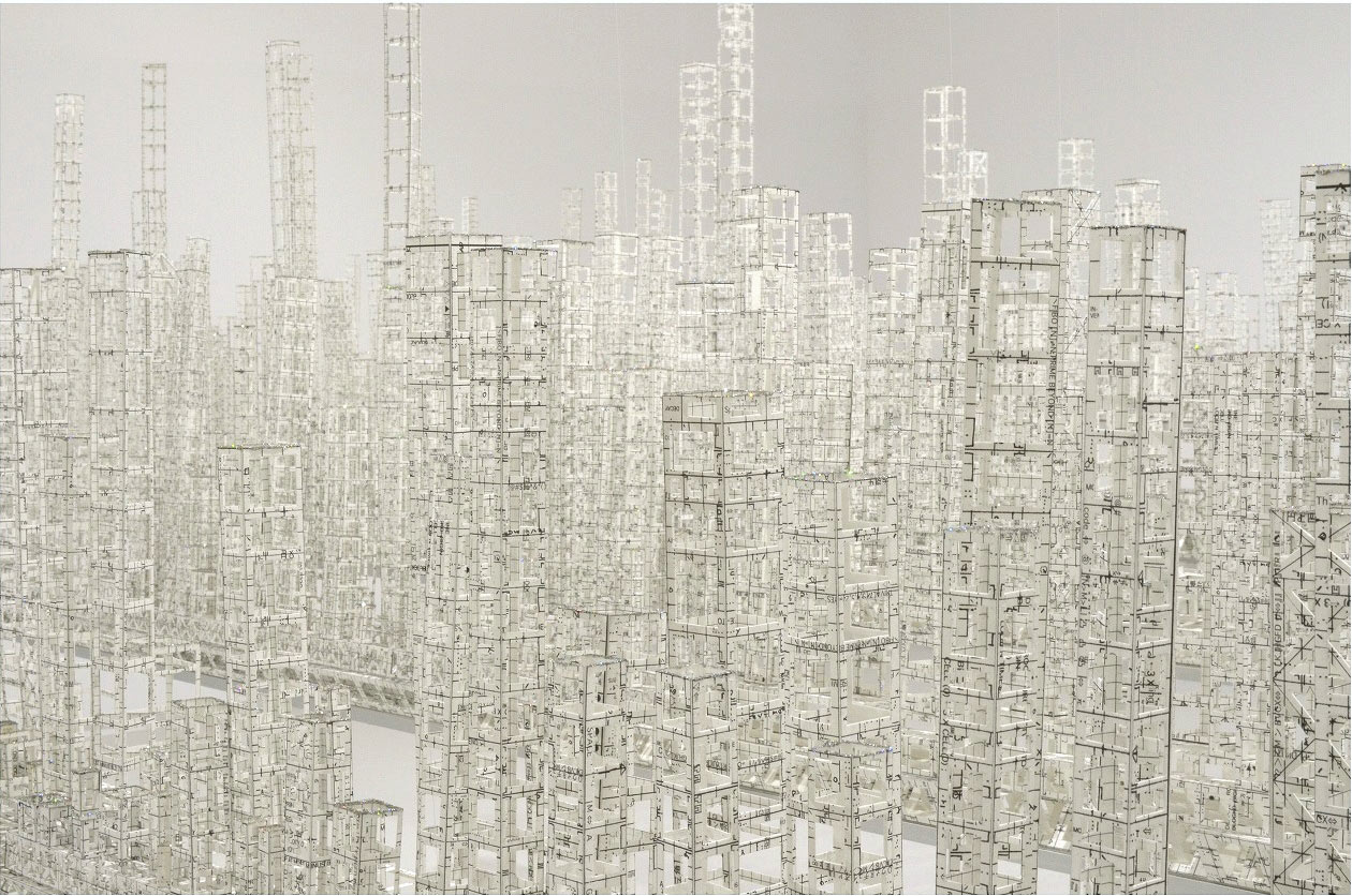 Architectural Sculptures Made From Paper by Katsumi Hayakawa