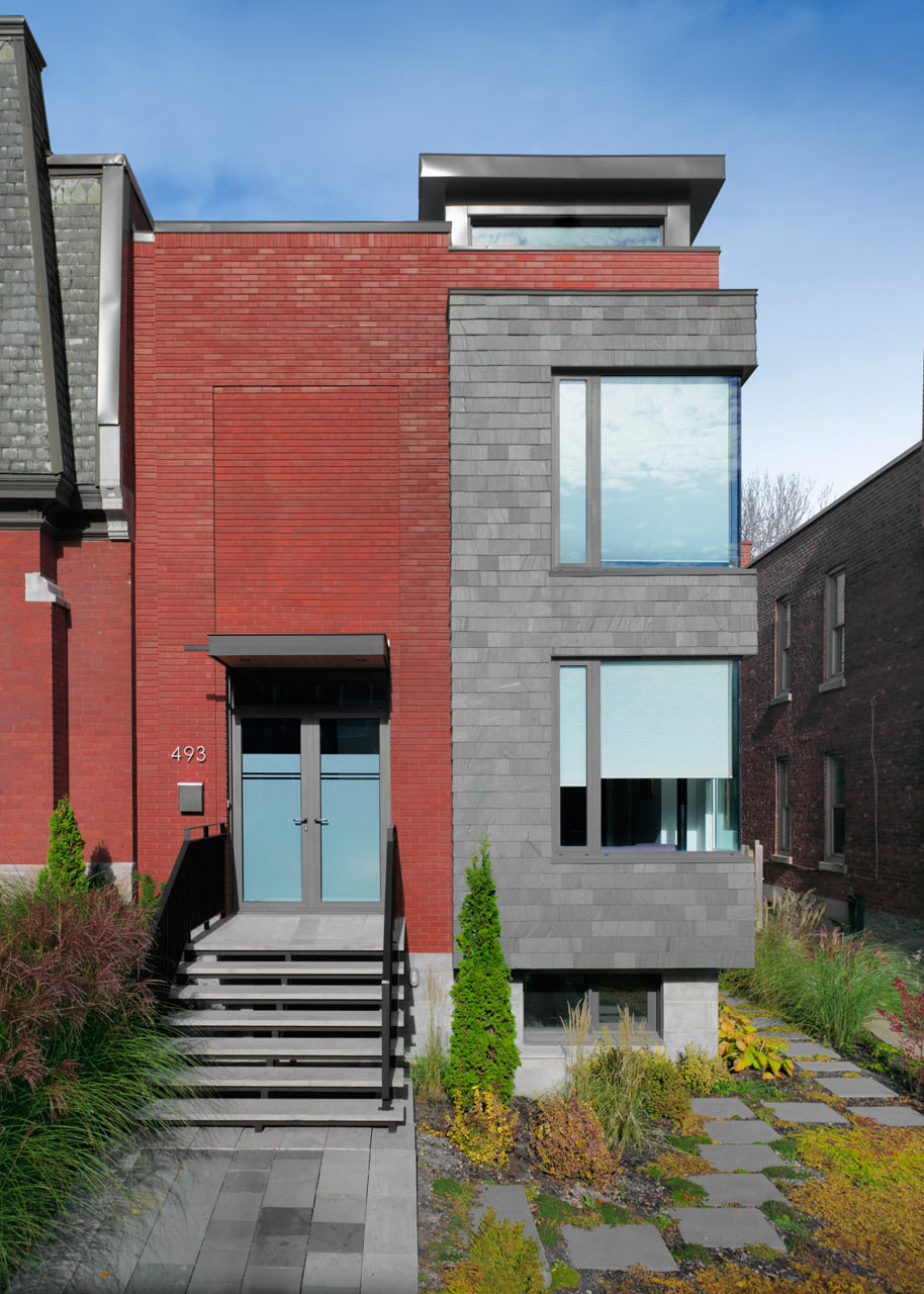 A Semi-Detached House on a Hill in Montreal
