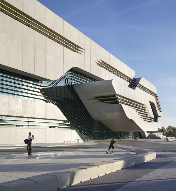 Pierresvives Building, Montpellier, France. Architect: Zaha Hadi