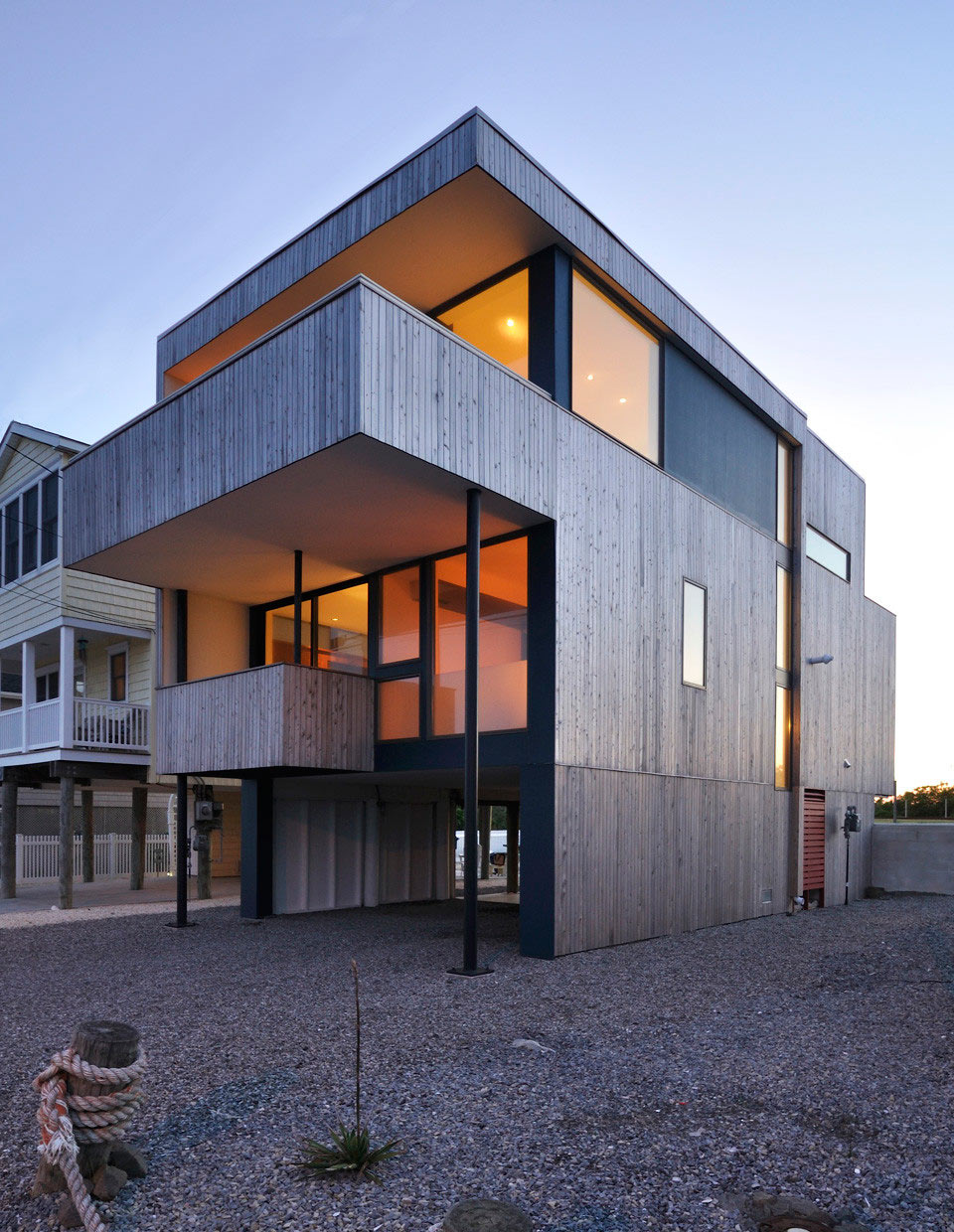 Modern Beach House a modern beach house at the jersey shore - design milk