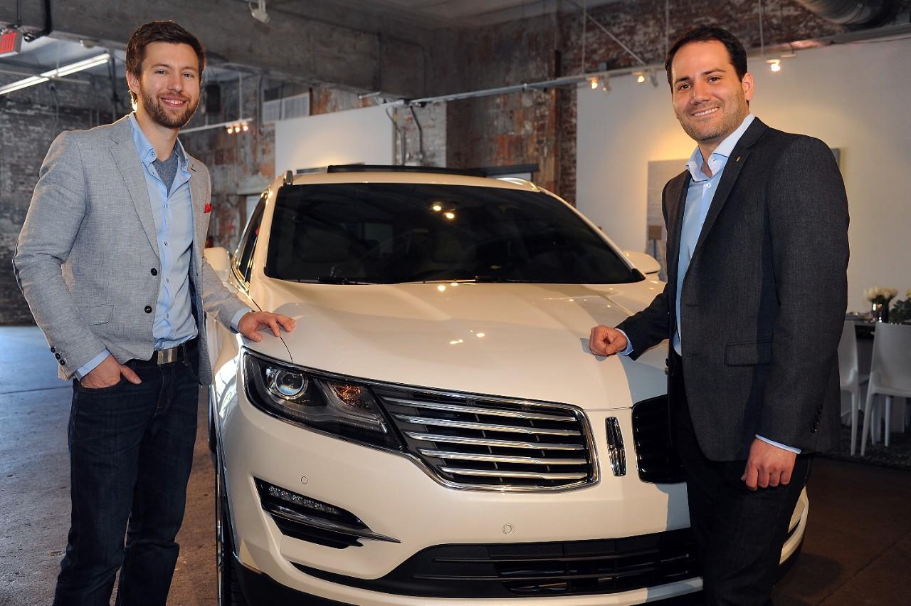 Dillon Blanski, Lincoln exterior designer, and Antonio Molinari, Lincoln interior designer.
