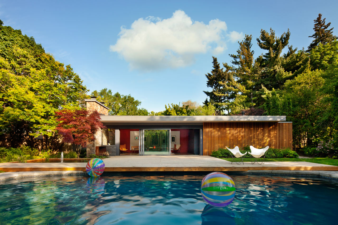 A Mid-Century Pool House Renovated by +tongtong