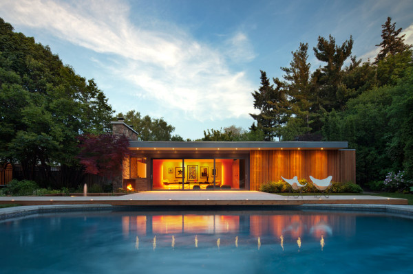 A Mid-Century Pool House Renovated by +tongtong - Design Milk on