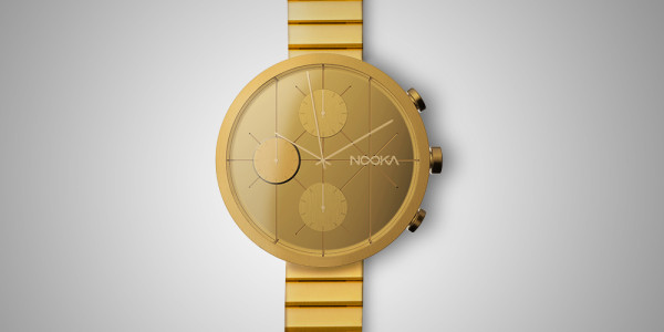 Just ten of these $5,000 Sapphire Crystal lens, 18-karat gold-plated face and band NOOKRONO LUX watches will be made.