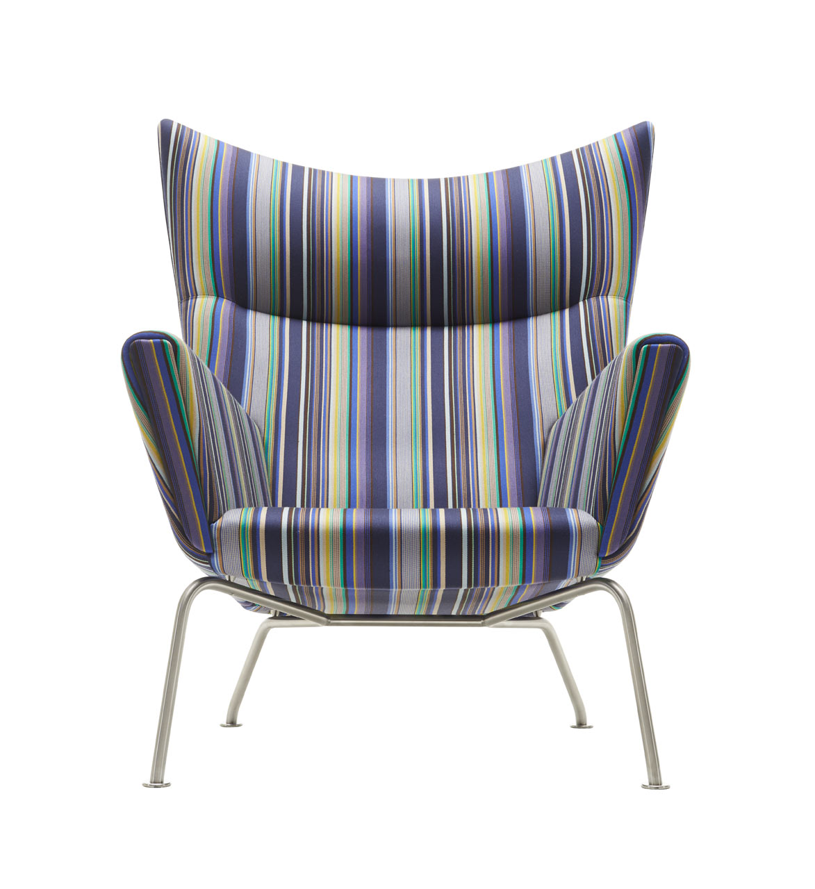CH445 Wing Chair - Stripes