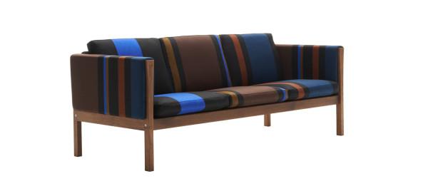 CH163 Sofa - Big Stripe - Cobalt