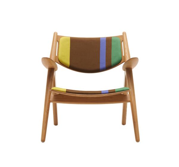 CH24 Lounge Chair - Big Stripes \\\ Version A