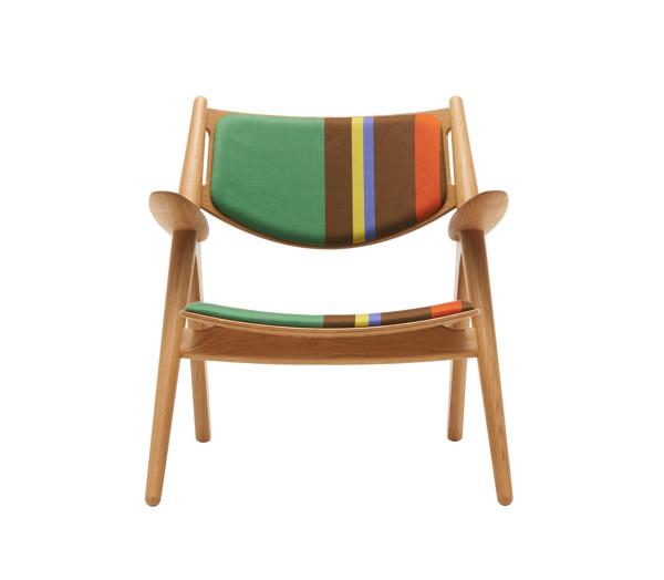 CH24 Lounge Chair - Big Stripes \\\ Version B