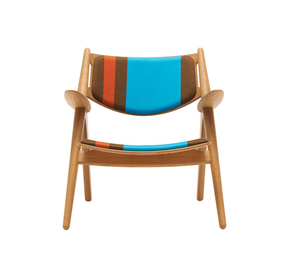 CH24 Lounge Chair - Big Stripes \\\ Version C