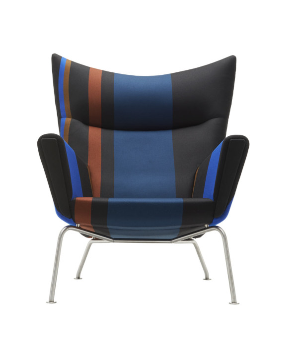 CH445 Wing Chair - Big Stripe