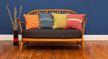 Bold Geometric Cushions & Blankets from Seven Gauge Studios