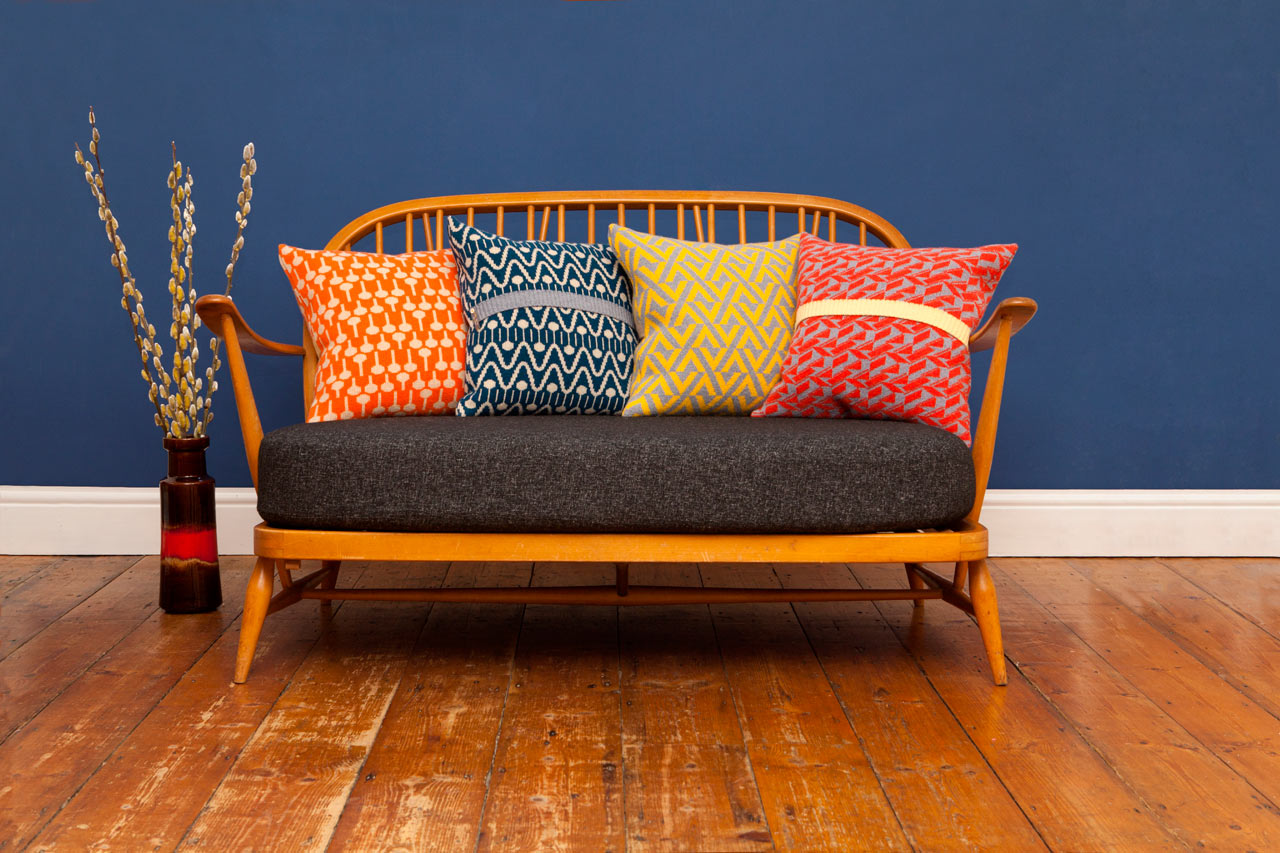 Bold Geometric Cushions & Blankets from Seven Gauge Studios
