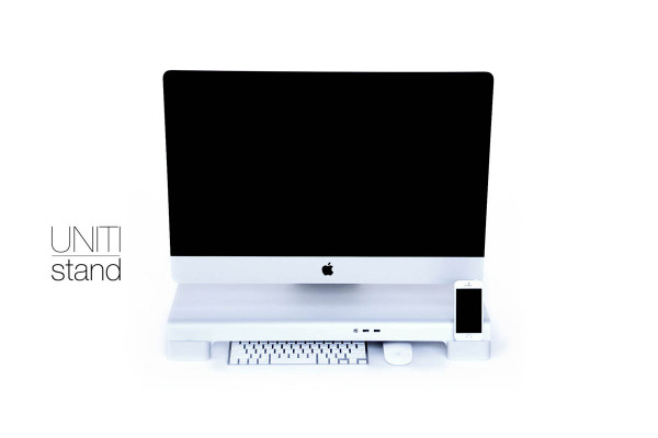 A Multifunctional iMac Stand For All Your Desktop Needs in technology main home furnishings  Category