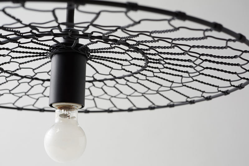 Basket Lamps Made From Wire Netting