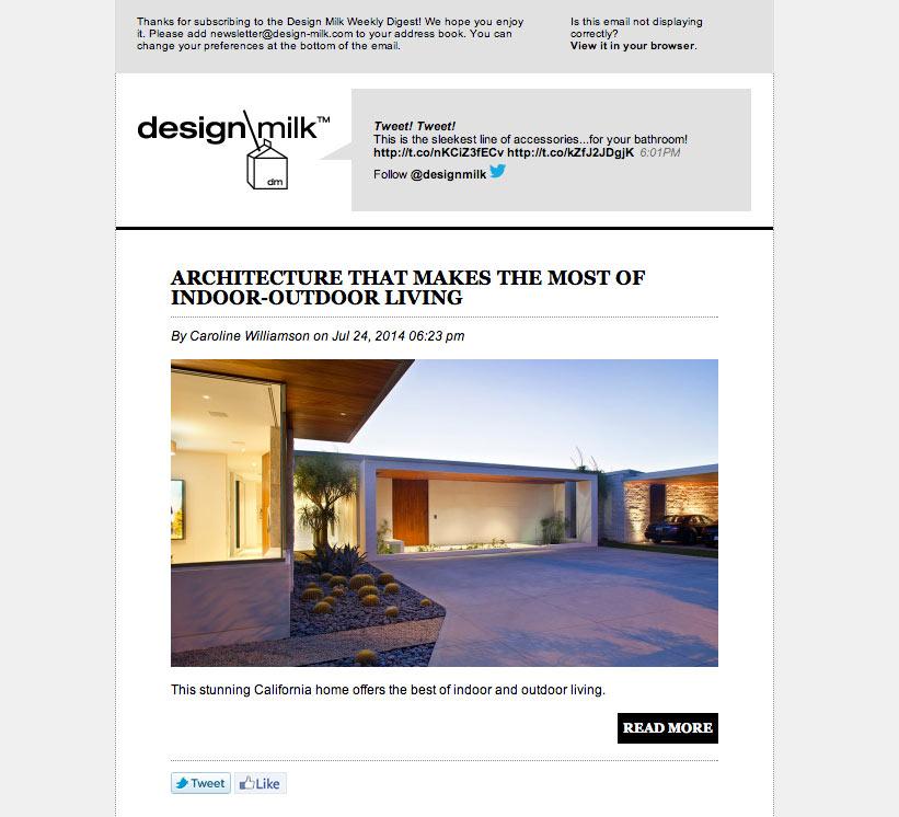 introducing the design milk weekly digest newsletter design milk