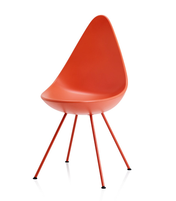 drop chair reintroduced by fritz hansen design milk. Black Bedroom Furniture Sets. Home Design Ideas