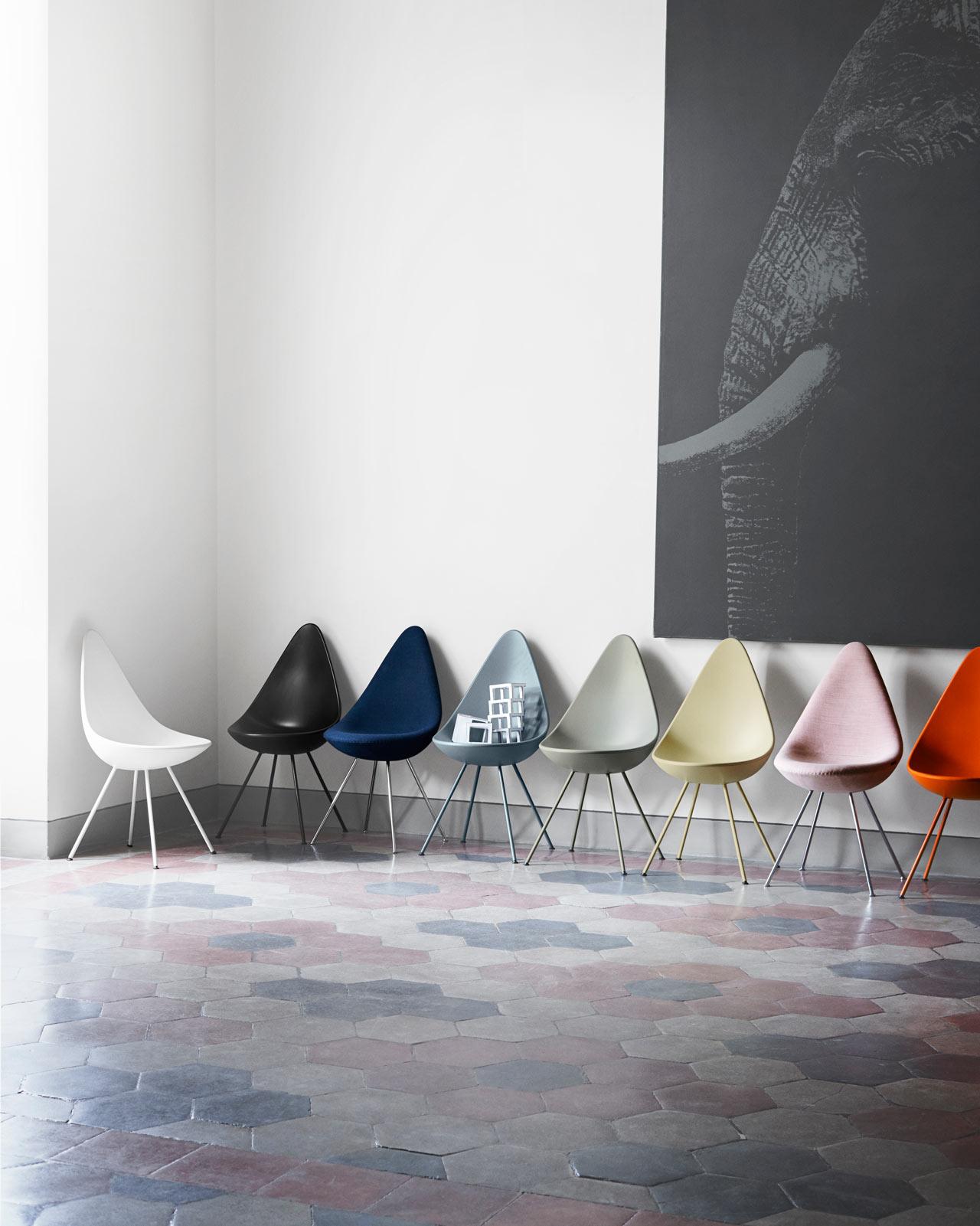 Drop Chair Reintroduced by Fritz Hansen