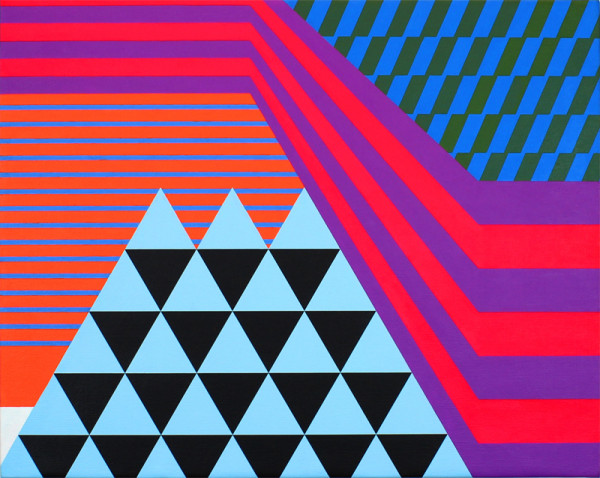Optical Odyssey / 2012 / Acrylic on canvas / 16 x 20 inches