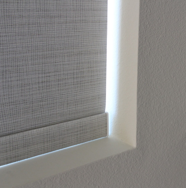 Brunswick silver pearl shade fabric