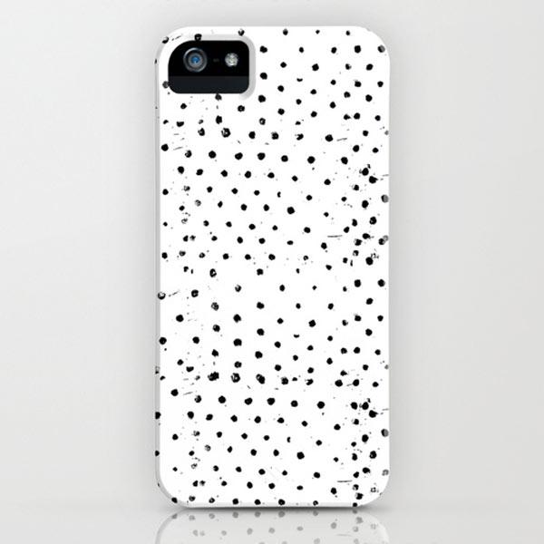 polka-dots-black-white-iphone-case