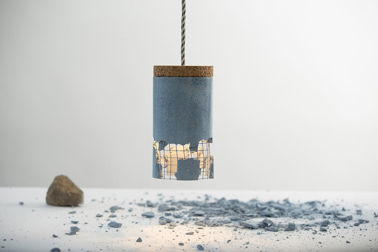 Designing Lamps a concrete lamp that makes you the designer - design milk