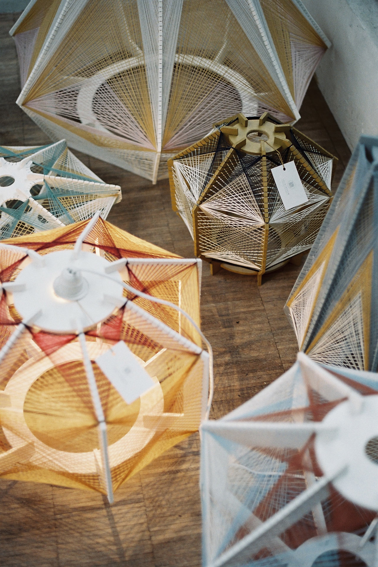 Sputnik Lamps by Julie Lansom