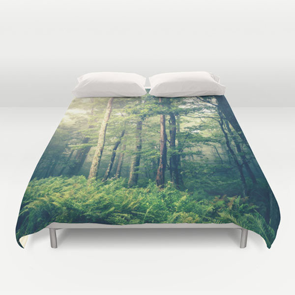 trees-forest-duvet-cover