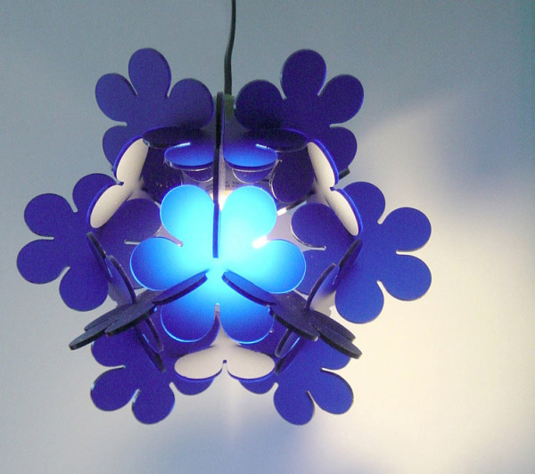 Perspex® Frost (known as LuciteLux® in North America) Sapphire Blue Unite Light by Nahoko Koyama