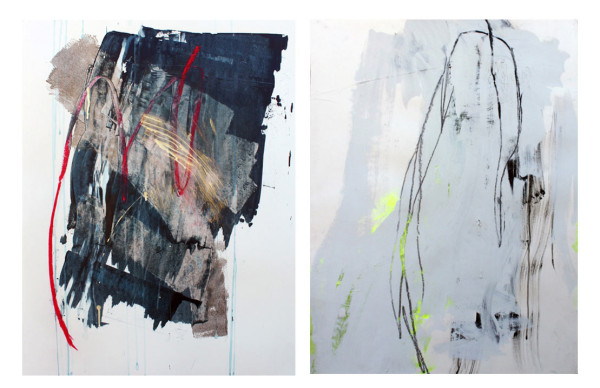 """And It Rained For Days #3 + Upkeep #10, mixed media on paper, 30"""" x 22"""""""