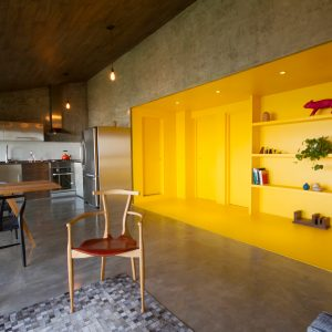 A 1970′s Concrete Apartment Gets a Bold Renovation