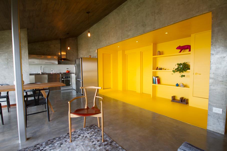 A 1970's Concrete Apartment Gets a Bold Renovation
