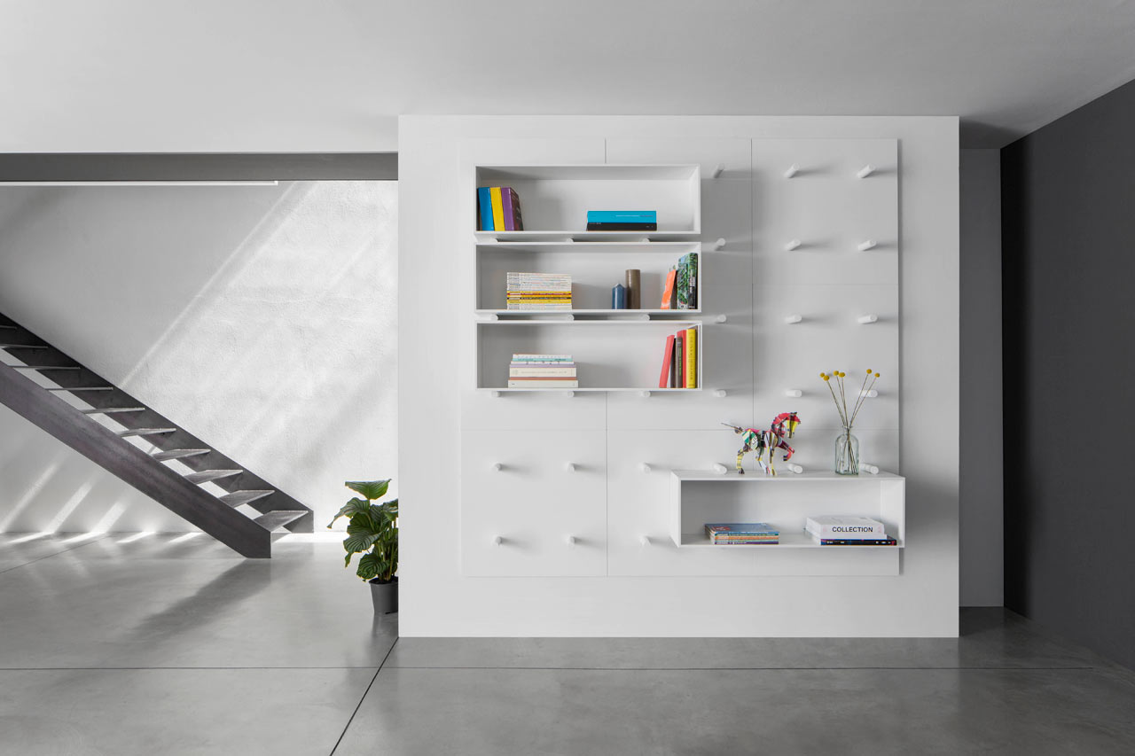 Dots: A Modular Storage Wall by ARIS Architects