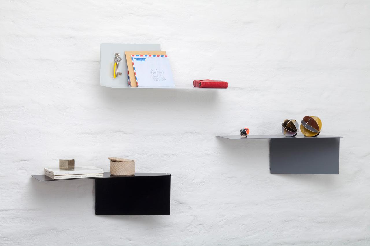 Plateau: Adaptable Wall Shelves by Felix Klingmüller for ECHTSTAHL