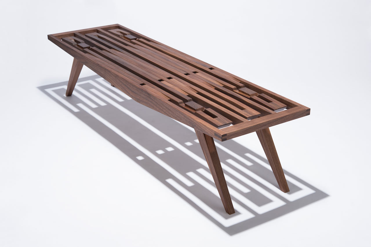 A Handcrafted Wood Bench with No Hardware