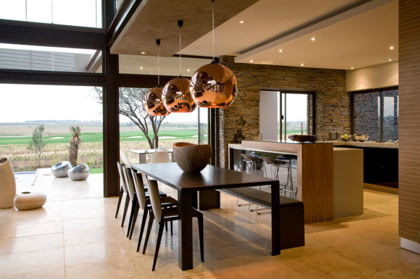 Modern Villa With Earthy Textures Rich Finishes Design Milk