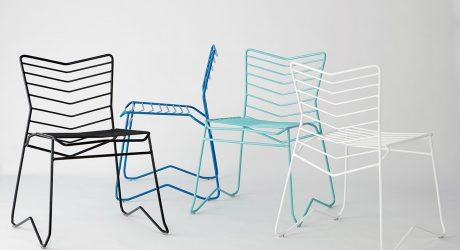 Kai: A Stackable, Wire Frame Chair by Daniel Lau