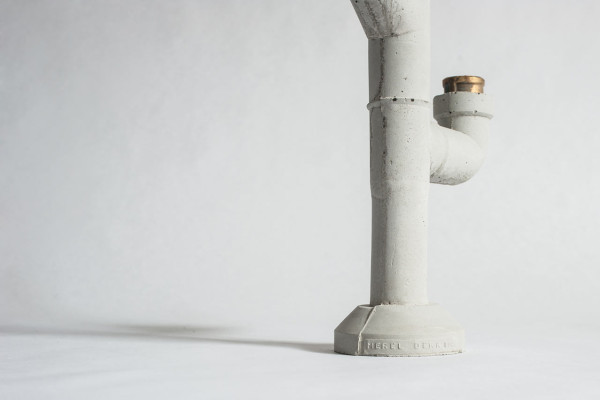 Concrete Candleholders Inspired by Plumbing Pipes in main home furnishings  Category