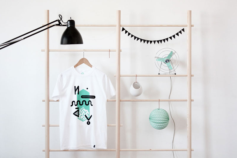 Graphic, Hand-Printed Tees from NOWAY