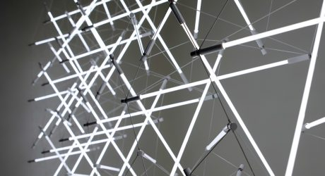 Tensegrity Space Frame Lights by Michal Maciej Bartosik