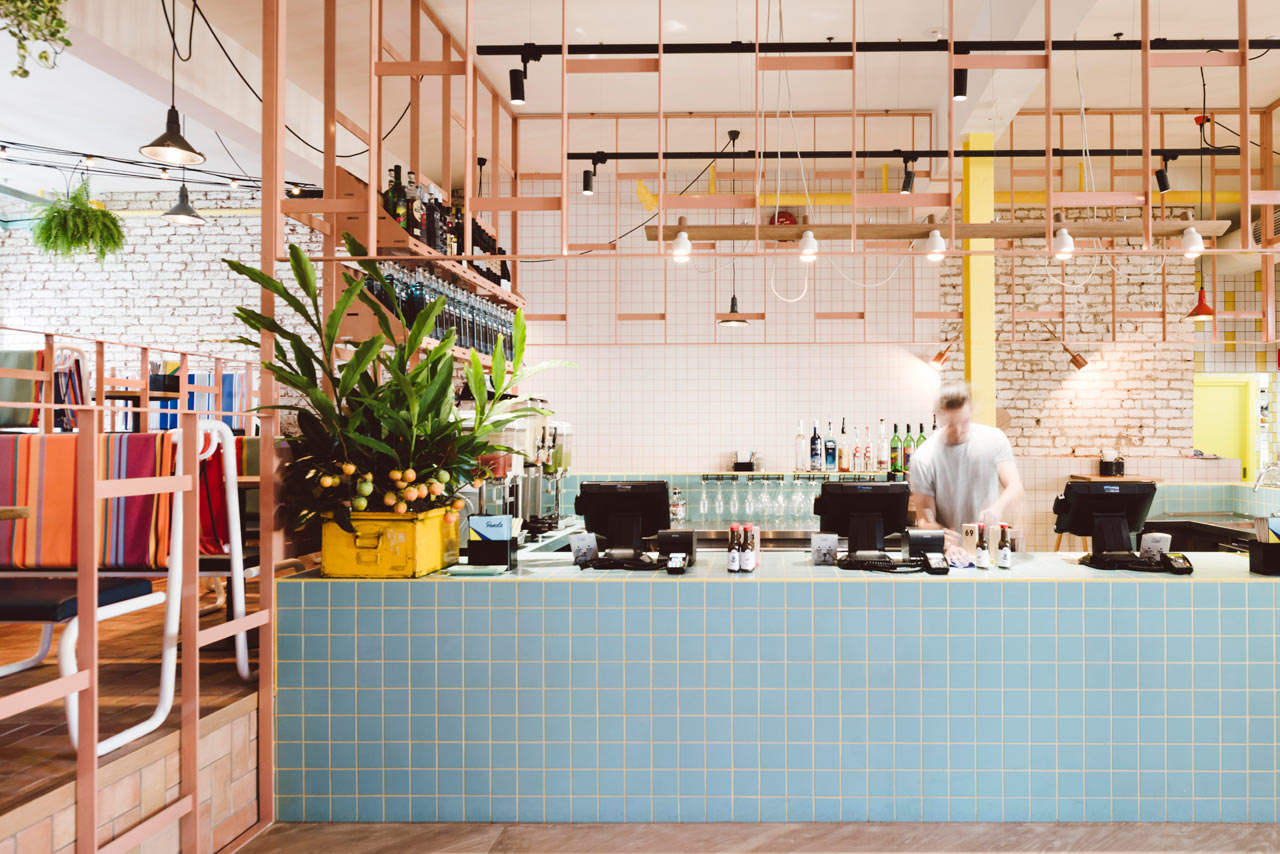 Architecture Interior Design Main · A Mexican Restaurant With A Colorful,  Modern Twist ...