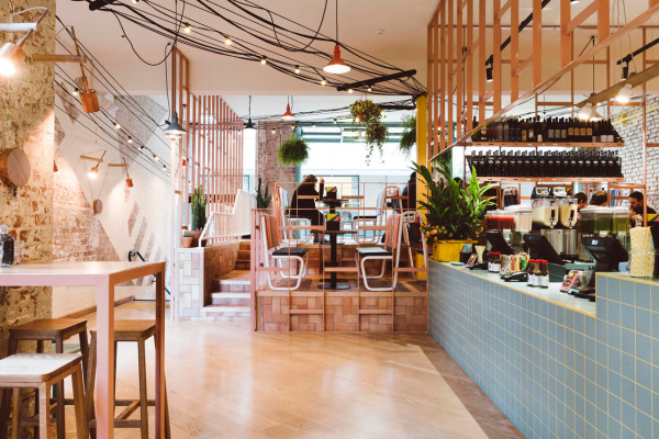 A Mexican Restaurant with a Colorful Modern Twist Design Milk