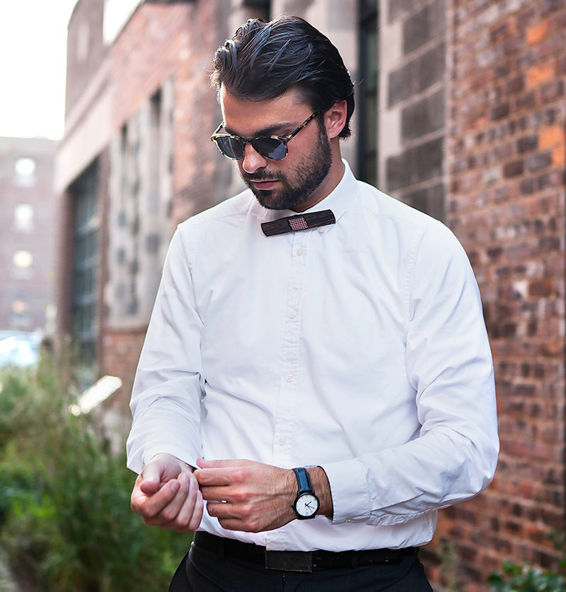 Traditional Menswear Becomes Design Object With The Wooden Bowtie