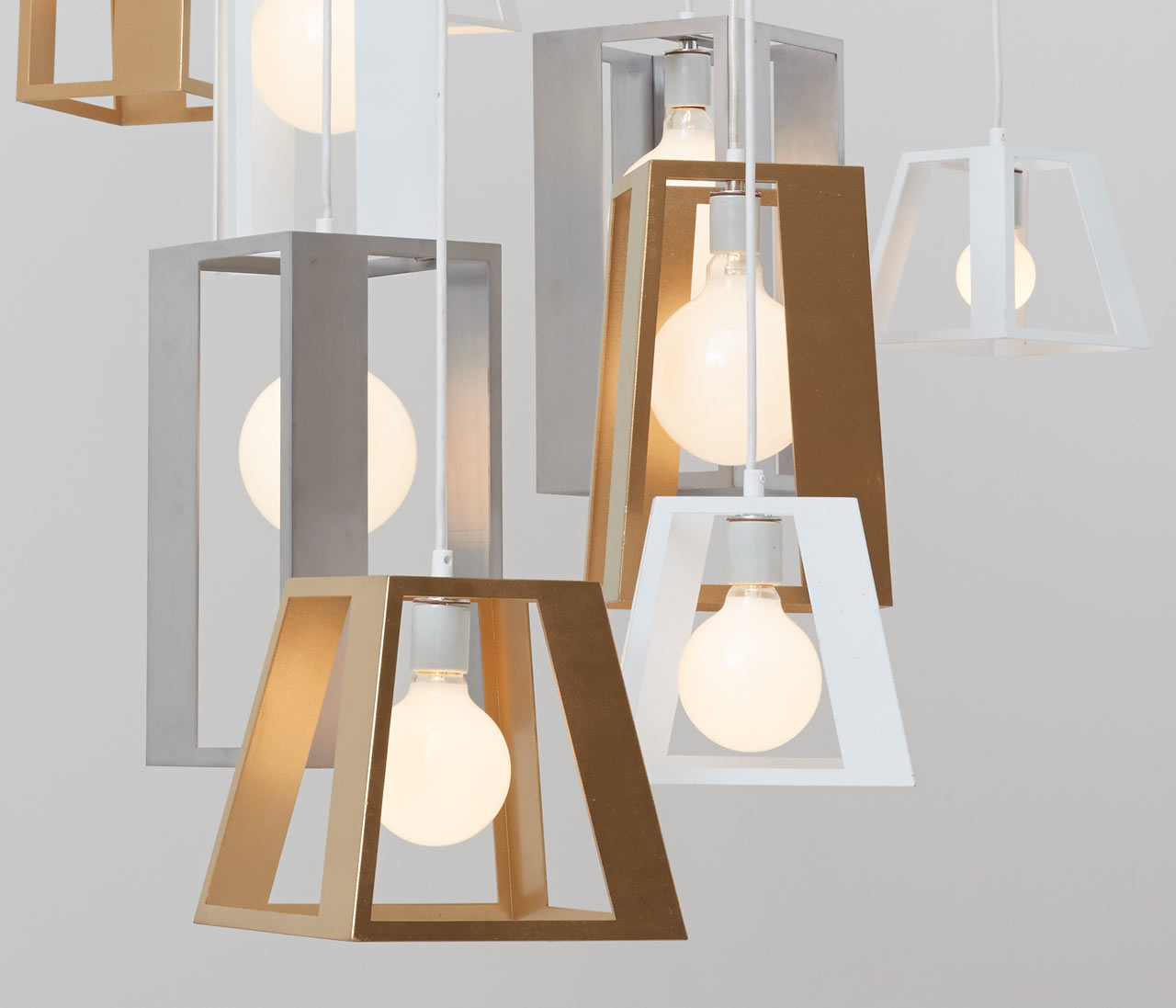 Lantern Helix Chandelier by Think Fabricate